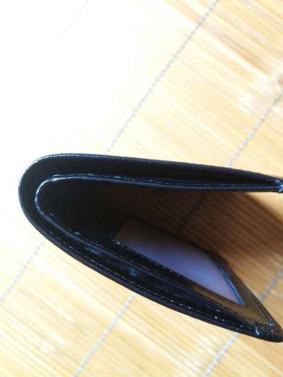 AIM 男士钱包时尚休闲复古头层牛皮迷你短款小钱包超薄款卡包票夹软皮钱夹皮夹 A292 油蜡皮黑色 晒单图
