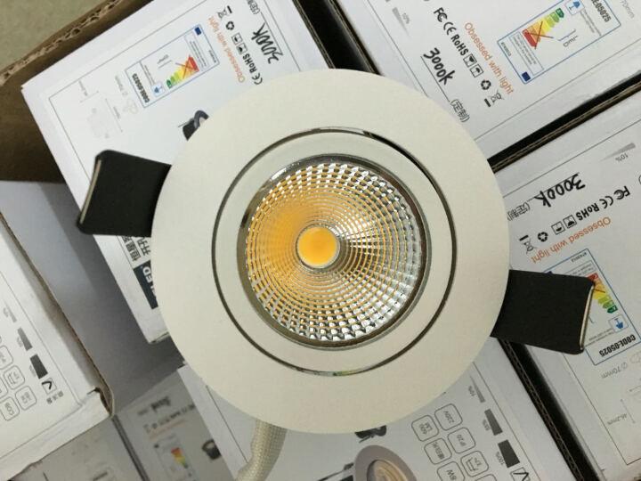 GELED/记忆点 LED筒射灯 嵌入式COB射灯天花灯 洗墙照画灯 白色-4000K-标准玻璃-洗墙神器 晒单图