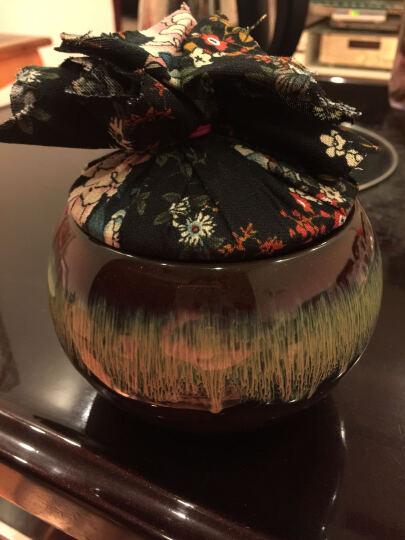 云品家居 陶瓷 汝窑茶叶罐 配件 汝瓷开片 茶叶罐大号 茶罐 喜庆乐童-黄釉 ST 晒单图