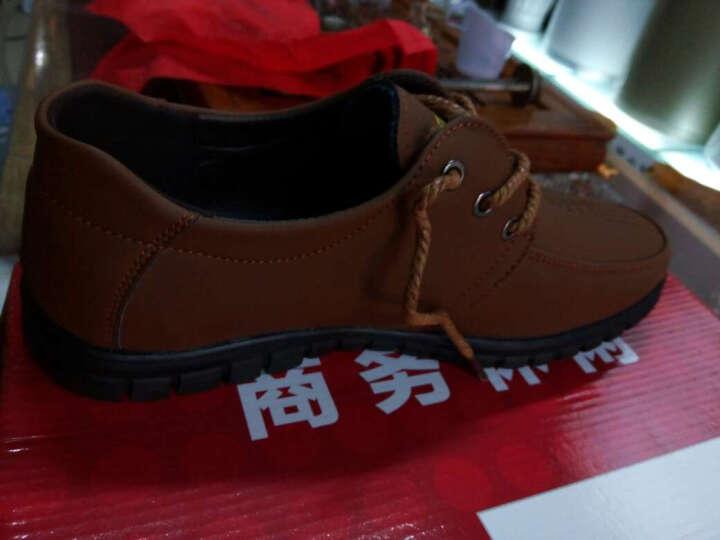 南极人(Nanjiren)时尚新款休闲鞋 男鞋时尚商务鞋板鞋潮鞋鞋子男皮鞋 1950黑色 40 晒单图