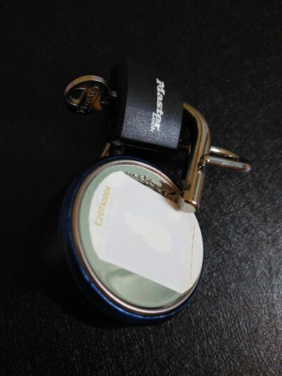 玛斯特(MasterLock)户外旅行箱包密码锁健身房储物柜子学生宿舍大门防盗锁(固定密码) 1533MCND蓝色 晒单图