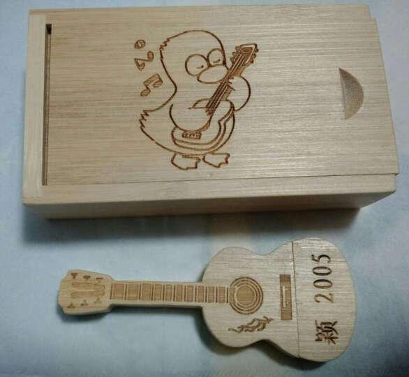 吉他U盘木盒装套装【32G16G8G】创意生日礼物实用送同学朋友闺蜜学生小礼品 吉他U盘32G 晒单图