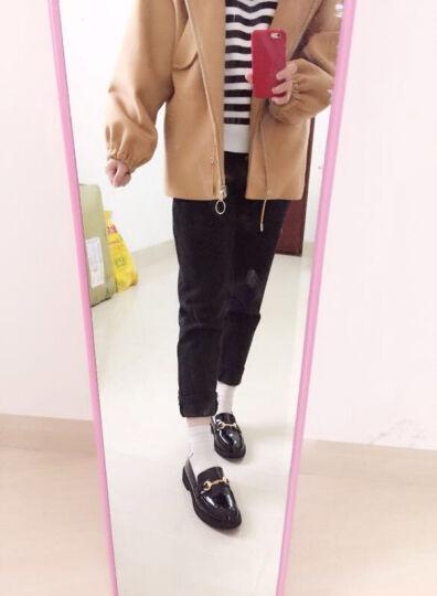 COYOMP单鞋女士2018新款皮鞋平底单鞋孕妇护士小白鞋婚软底小皮鞋浅口真皮夏女鞋驾车单鞋商务鞋 米色(拍下138元) 36 晒单图
