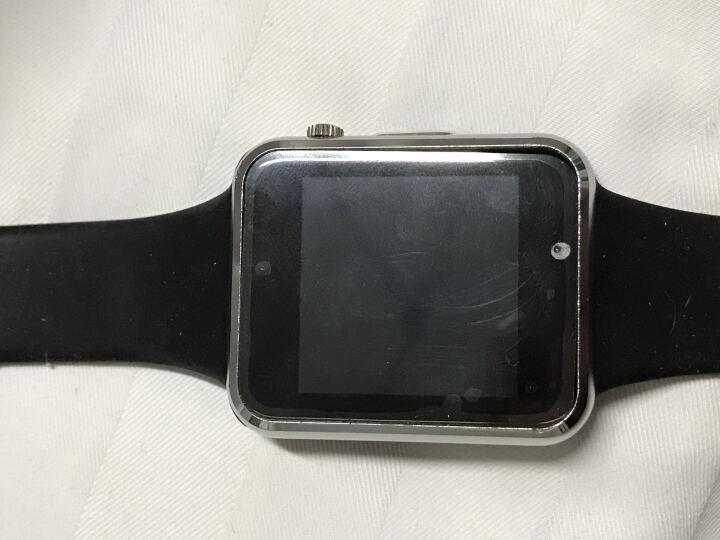 【送内存卡 】智能电话手表手机插卡拍照 健康管理 男士儿童触屏 运动手环三星苹果 黑色(触屏儿童版三代定位款)+32G内存卡 晒单图