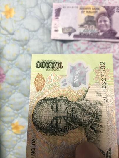 【甲源文化】亚洲-全新UNC 越南塑料钞 2011-20年 胡志明 外国钱币收藏套装 仅供收藏 100000盾 P-122 单张 晒单图