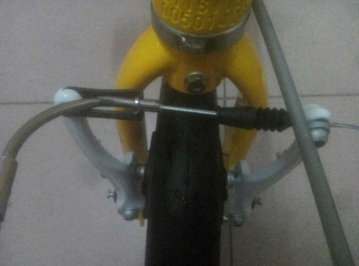 欧亚马 OYAMA折叠自行车14寸铝合金折叠车架男女款单车波浪-JR300 黄色 晒单图