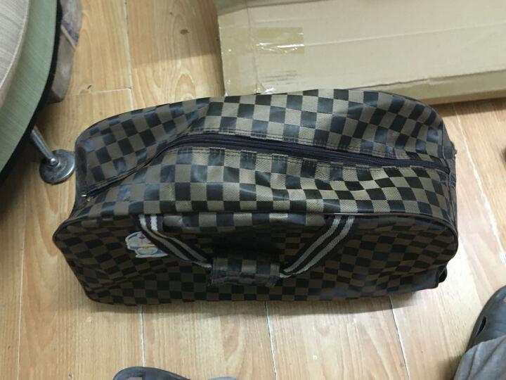 大容量韩版拉杆包男户外旅行箱行李手提包出差行李箱登机包女防水 复古报纸 大号 晒单图