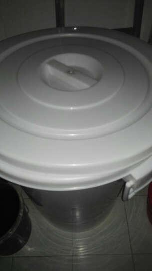 塑料水桶大号工业圆桶户外垃圾桶带盖圆形收纳桶家用储水桶酒店厨房环卫物业食堂用垃圾桶 300L加厚白色(约330斤水) 晒单图