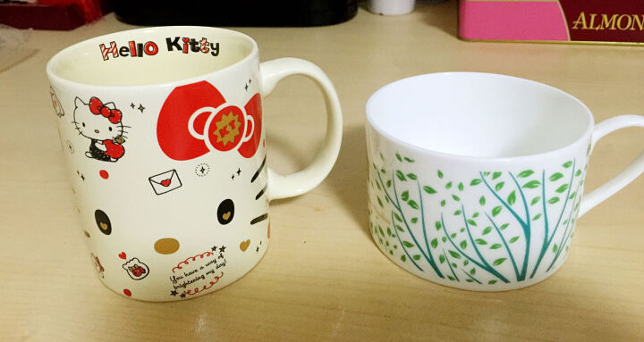 HELLO KITTY(凯蒂猫) 马克杯咖啡杯子 陶瓷杯水杯创意情侣牛奶早晨奶茶杯 黄色 晒单图