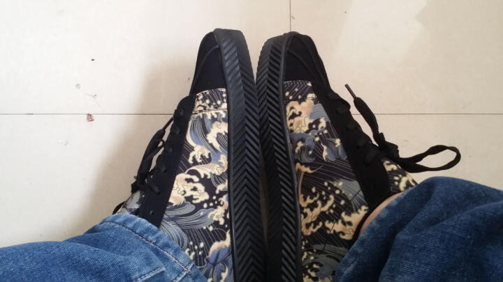 希伯名休闲鞋男春夏季透气款男鞋韩版时尚四面弹PU印字运动板鞋厚底加高4CM 黑色单鞋-----*8982 41 晒单图