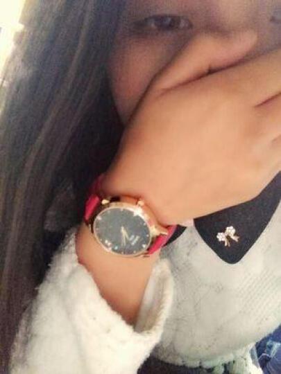 宾派(BinPai)手表女士真皮带璀璨星际钢带女表 简约女式腕表  送女友时尚防水石英表 金砂石皮带-红色 晒单图