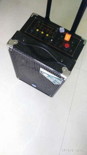 双诺 SN-22 8英寸户外移动拉杆音箱 广场舞蓝牙音响 便携式大功率插卡扩音器 黑色 拉杆单麦 晒单图