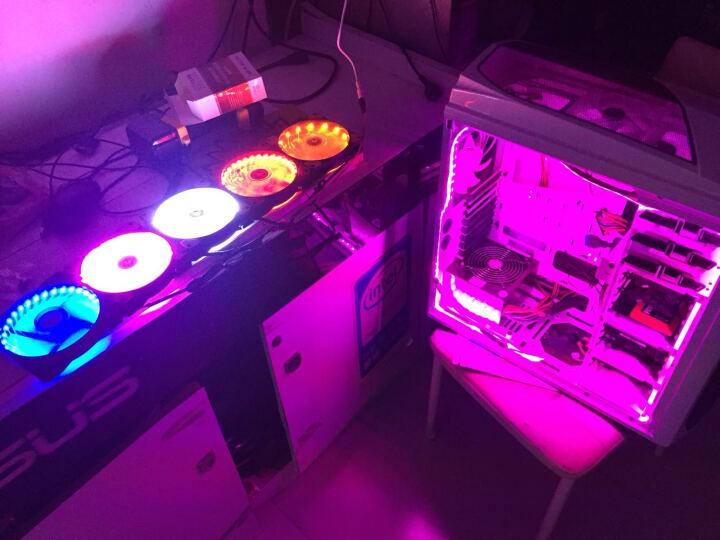 战争磨坊 15灯/32灯 12cm机箱风扇/电脑散热 diy主板电源接口 小3针大4pin 七彩色 12厘米15灯风扇 晒单图