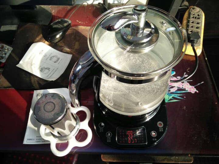 油夫人(YFR)Y7养生壶煎药煮茶壶1.8L加厚玻璃电水壶电药锅多功能煮蛋器烧水壶2-3人 带滤茶器 晒单图