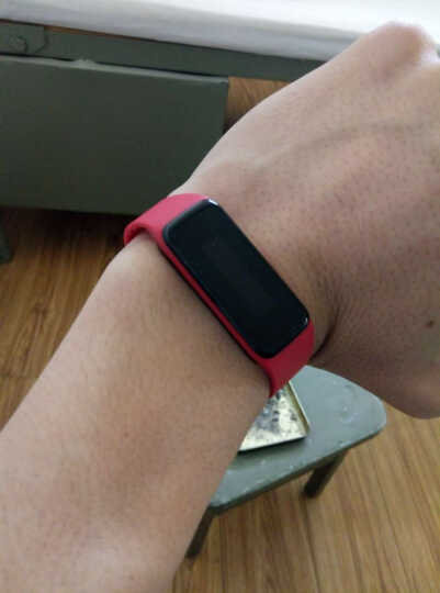 唯乐小黑3智能心率手表now2男女运动手环 蓝牙计步器触控彩屏心率睡眠监测测 来电微信显示 NOW2心率手环红色 晒单图