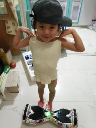 傲凤(AOFENG) 傲凤平衡车两轮儿童双轮电动车成人智能代步车 LED轮毂/8吋跑马灯/涂鸦白 晒单图