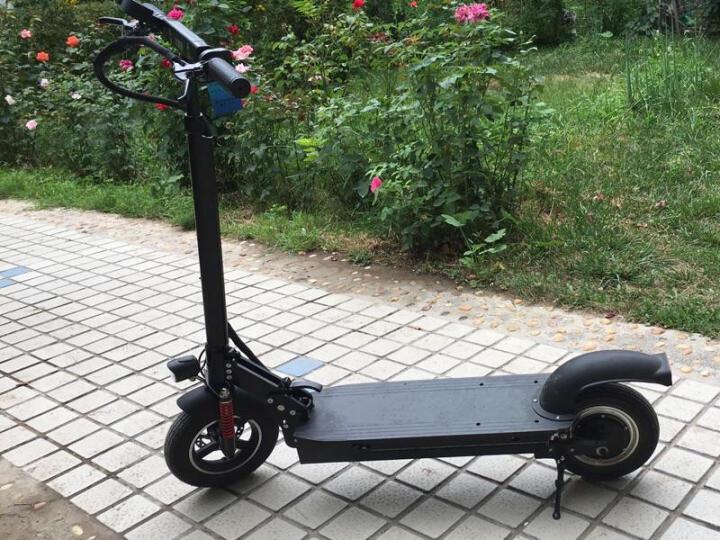 飞轮威尔 成人电动滑板车  锂电折叠电动车 迷你代驾电动平衡车 T1-8英寸黑色10AH-35KM 晒单图