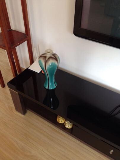 虹玉 景德镇艺术窑变陶瓷花瓶  现代时尚瓷器工艺品摆件 咖啡色美人瓶 晒单图