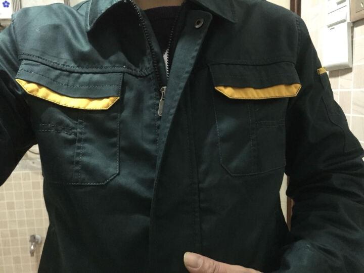 秋季工作服套装男加厚工服长袖汽修工作服秋装劳保服工作服男上衣 中灰色短袖(上衣) XL 晒单图
