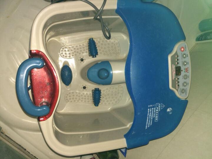 【中秋节礼物】皇威(huang wei) 足浴盆加热洗脚盆全自动按摩泡脚桶足浴器 H-303C 蓝色 晒单图