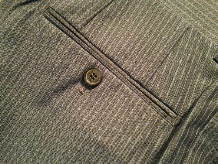 JUDGER庄吉 夏季薄款西裤男 男士商务正装羊毛混纺西装裤 男士修身西裤 灰色条纹 185/102A/3.18尺 晒单图