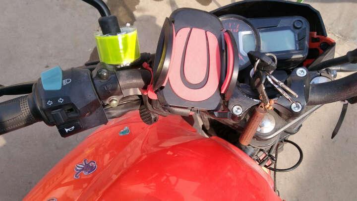 自行车手机支架山地车手机架导航仪固定架导航支架摩托车骑行装备手机夹单车配件电动车通用手机座 黑红色 晒单图