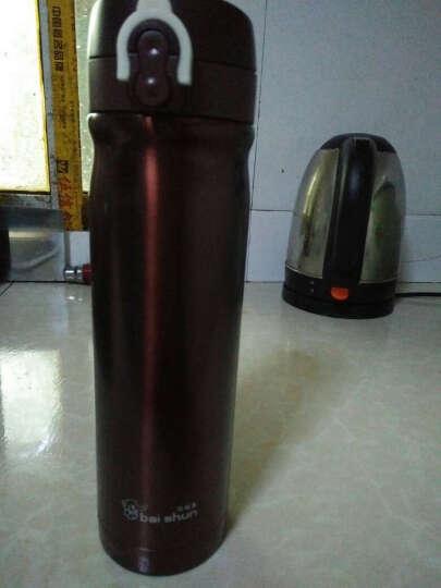 佰顺象(bai shun) 500ml双层不锈钢内胆保温杯 男女过滤车载情侣水杯XB50 TA咖啡色 晒单图