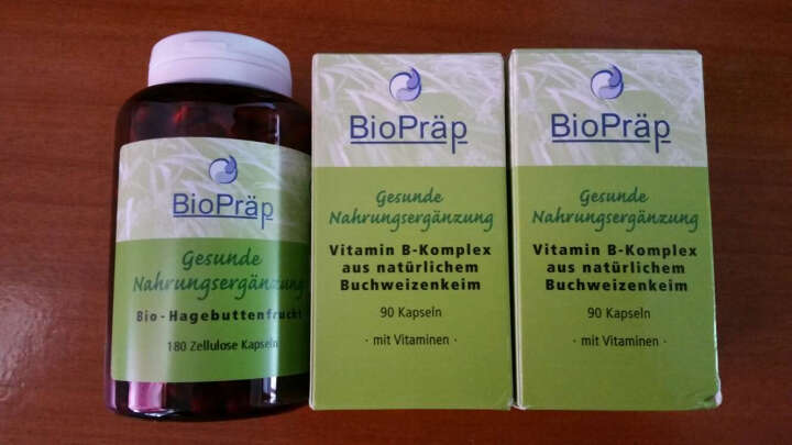 biopraep BioPraep德国有机玫瑰果天然维生素c胶囊改善皮肤水分/油分水嫩白 德国 晒单图