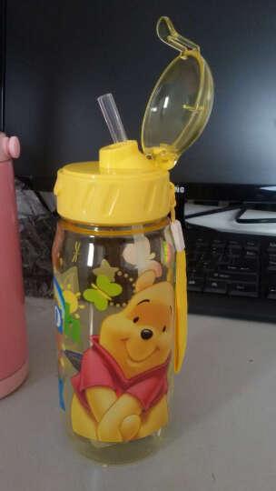 先行儿童杯迪士尼乐宝卡通系列小孩吸管杯 学生塑料水杯子防漏户外运动随手杯400ml 迪士尼小熊黄 晒单图