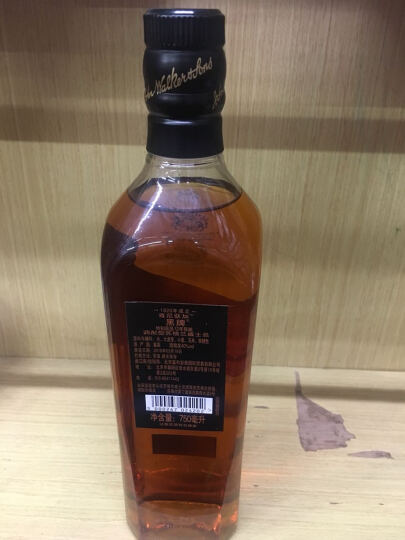 Johnnie Walker 尊尼获加调配型苏格兰威士忌 洋酒 黑方100周年纪念版 晒单图