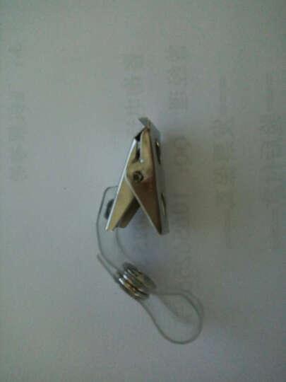谋福 软质PVC高透明证件卡套  金属强力夹扣 翻盖夹子胸牌胸卡 蓝色工作证挂绳 证件卡挂绳1根 晒单图