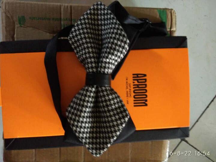 APROOM领结 英伦结婚庆新伴郎 男女士正装蝴蝶双层领带结送礼盒装APLJ384 D款 晒单图