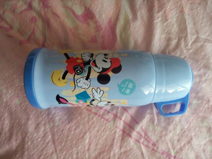 迪士尼(Disney)儿童保温杯男女时尚情侣弹盖水杯子316不锈钢便携学生水壶350ML白色米奇 晒单图