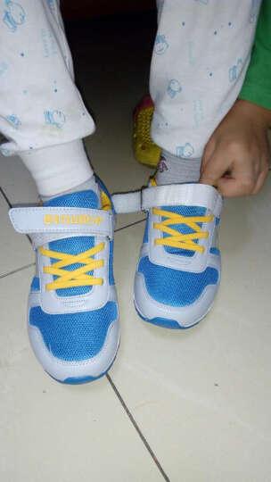 大黄蜂 BIG WASP 男女童运动鞋 儿童跑步鞋透气耐磨阿甘鞋 206318109 灰湖蓝-31码 晒单图