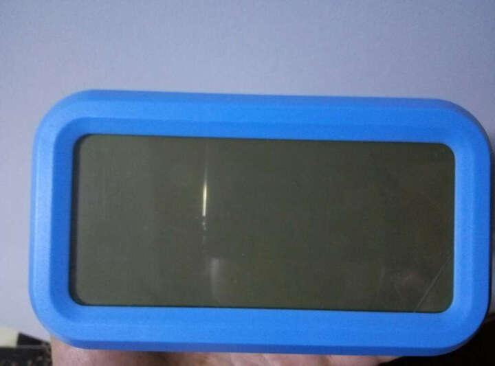 康时达(comsida)闹钟 LED电子光控闹钟静音懒人座钟 C9901蓝色 晒单图