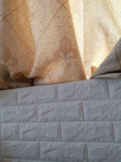 梦雅莉(mengyali) 3D砖纹墙贴纸立体自粘创意电视背景墙客厅画卧室装饰防水墙面 珍珠白 大号(70*77cm) 晒单图