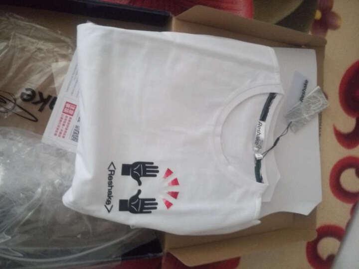 马克华菲潮牌马克华菲潮牌Reshake新款纯棉T恤男潮牌抽象个性街头风印花圆领棉短袖t 白色 XL 晒单图