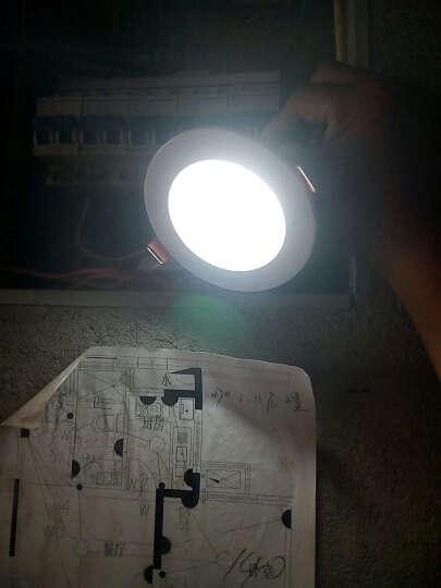 晶致 筒灯led射灯服装店轨道射灯全套牛眼灯客厅洞灯过道猫眼灯卧室桶灯具天花灯7.5孔灯 方形面板筒灯2.5寸3W白光 晒单图