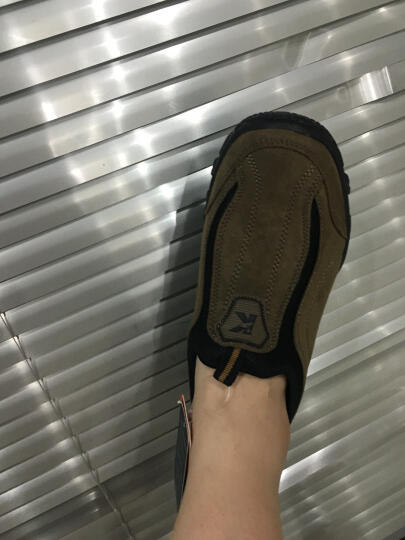 NAIKPLLO秋冬老北京布鞋保暖男士休闲健步鞋子中老年爸爸鞋轻便平底老人鞋 Z010加绒绿色 41 晒单图
