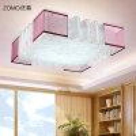佐慕 卧室灯led吸顶灯温馨浪漫多功能吸顶式灯具灯饰 花香版白色白光 晒单图