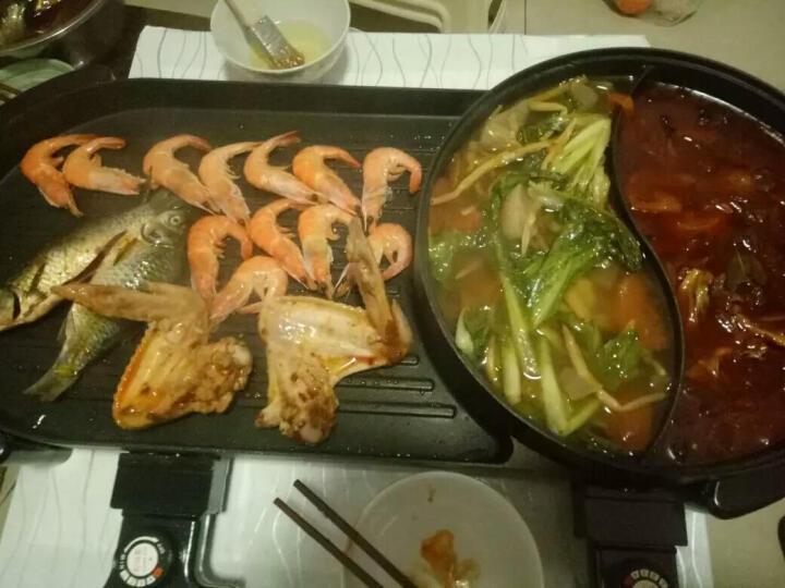 三美(SAN MEI) 韩式无烟电烤炉家用 多功能电热烧烤烤肉机 电烤盘烤涮一体锅 圆锅款 晒单图
