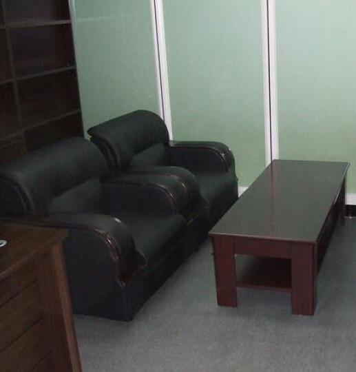 企品办公家具总经理室韩式日式办公沙发办公室现代商务接待会客办公沙发茶几组合 进口耐磨西皮 单人位 晒单图