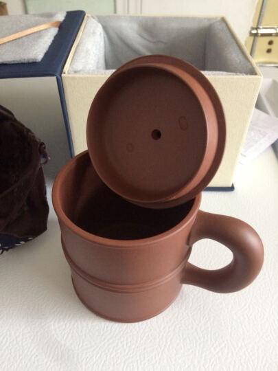 红青百年 宜兴原矿紫砂二环异彩盖杯 紫砂茶杯 茶具 泡茶杯 晒单图