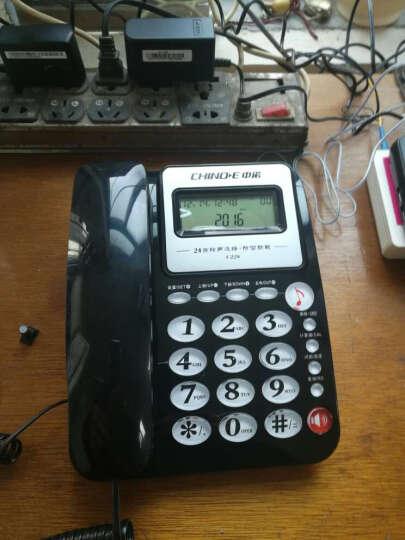 中诺(CHINO-E)C228 一键通免电池家用电话机座机电话办公固定电话机来电显示有线坐机固话机  红色 晒单图