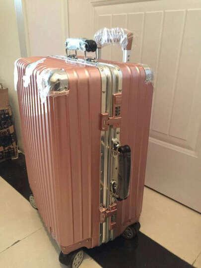 【皮把手】 旷奇20英寸拉杆箱万向轮行李箱男学生铝框24旅行箱包密码箱女结婚箱子皮箱登机箱 新款上市,低价冲量中 24英寸/需托运 晒单图