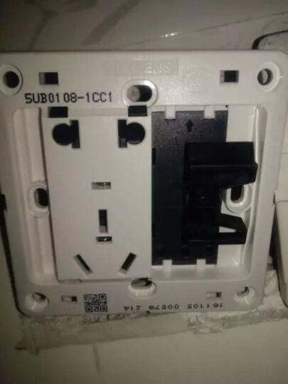 松下(Panasonic) 86型开关插座 16A三孔插座 智趣系列 WMZ106(雅白色) 晒单图