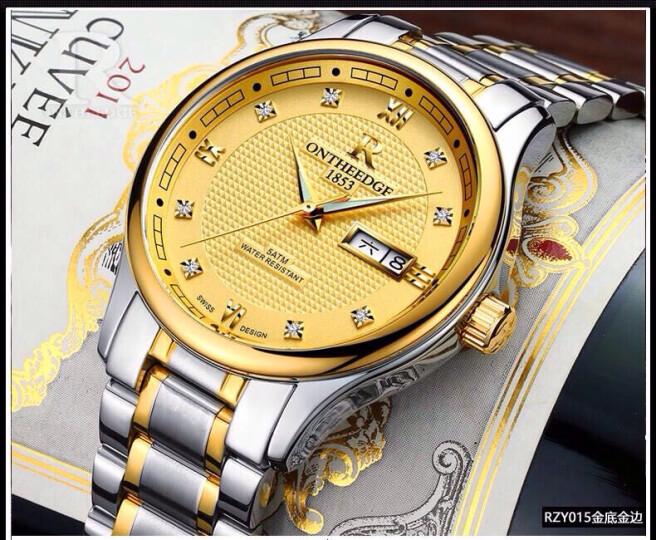 瑞之缘手表男士手表全自动镂空机械表防水男表双日历