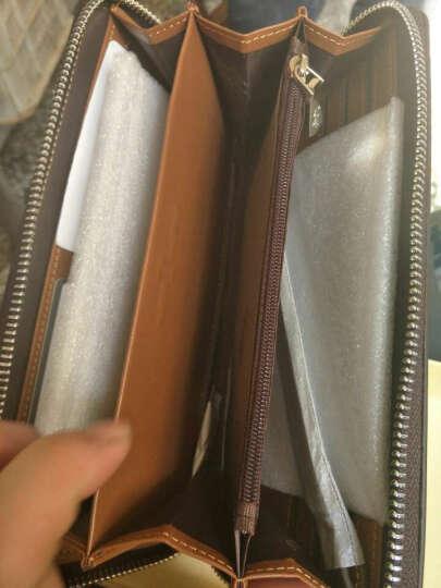 英皇保罗POLO男士长款钱包 钱夹头层牛皮时尚商务多功能包手机包票夹拉链手包 全国联保 咖啡色 晒单图