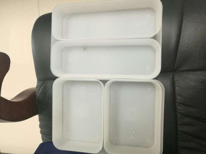 创意厨房抽屉整理盒收纳盒(大中小3个装) 办公桌抽屉杂物塑料餐具收纳筐 橱柜抽屉整理篮 晒单图