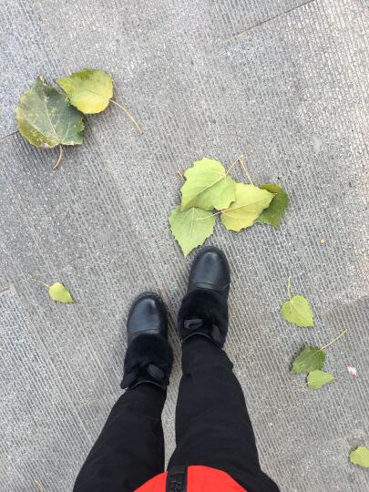 雪地靴女短靴冬季女鞋圆头松糕跟靴子女靴韩版冬靴时装靴内增高厚底平跟公主鞋甜美低筒靴 黑色DHD9062B 36 晒单图